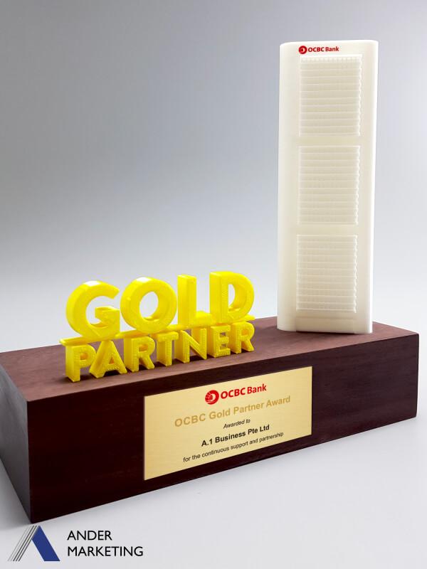 YA-3662 Custom Trophy Award | Ander Marketing Singapore