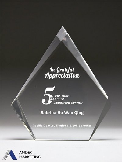 Acrylic Trophy Award - A-30 Ander Marketing Singapore