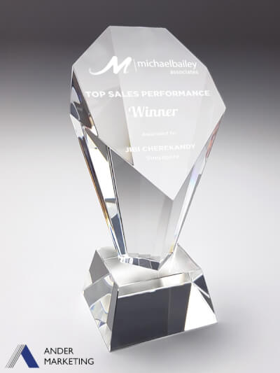 Crystal Trophy Award CA-291 - Ander Marketing Singapore
