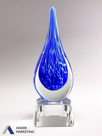 Art Glass Trophy Award GA-15MT - Ander Marketing Singapore
