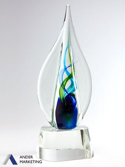 Art Glass Trophy Awards GA-17 - Ander Marketing Singapore