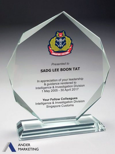Jade Glass Trophy Awards GG-03 - Ander Marketing Singapore