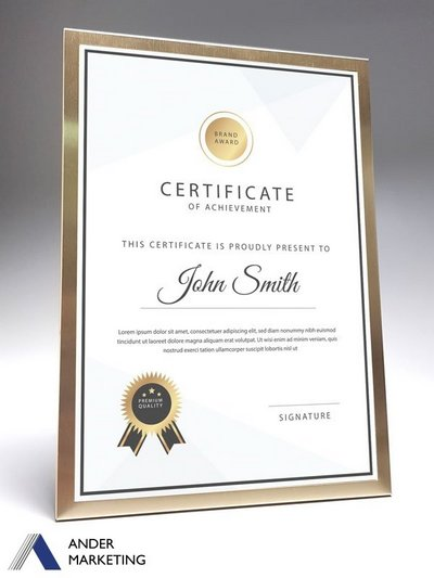Metal A4 Certificate Frame - PF-03 Ander Marketing Singapore