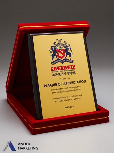 Velvet Box Plaques PVB-01S - Ander Marketing Singapore