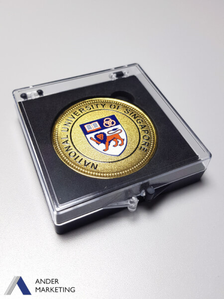 Medallion coin with display case RC-12 - Ander Marketing Singapore
