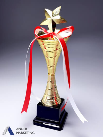 Plastic Star Trophy - TC-35P Ander Marketing Singapore