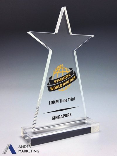 Acrylic Trophy Awards - VA-22 Ander Marketing Singapore